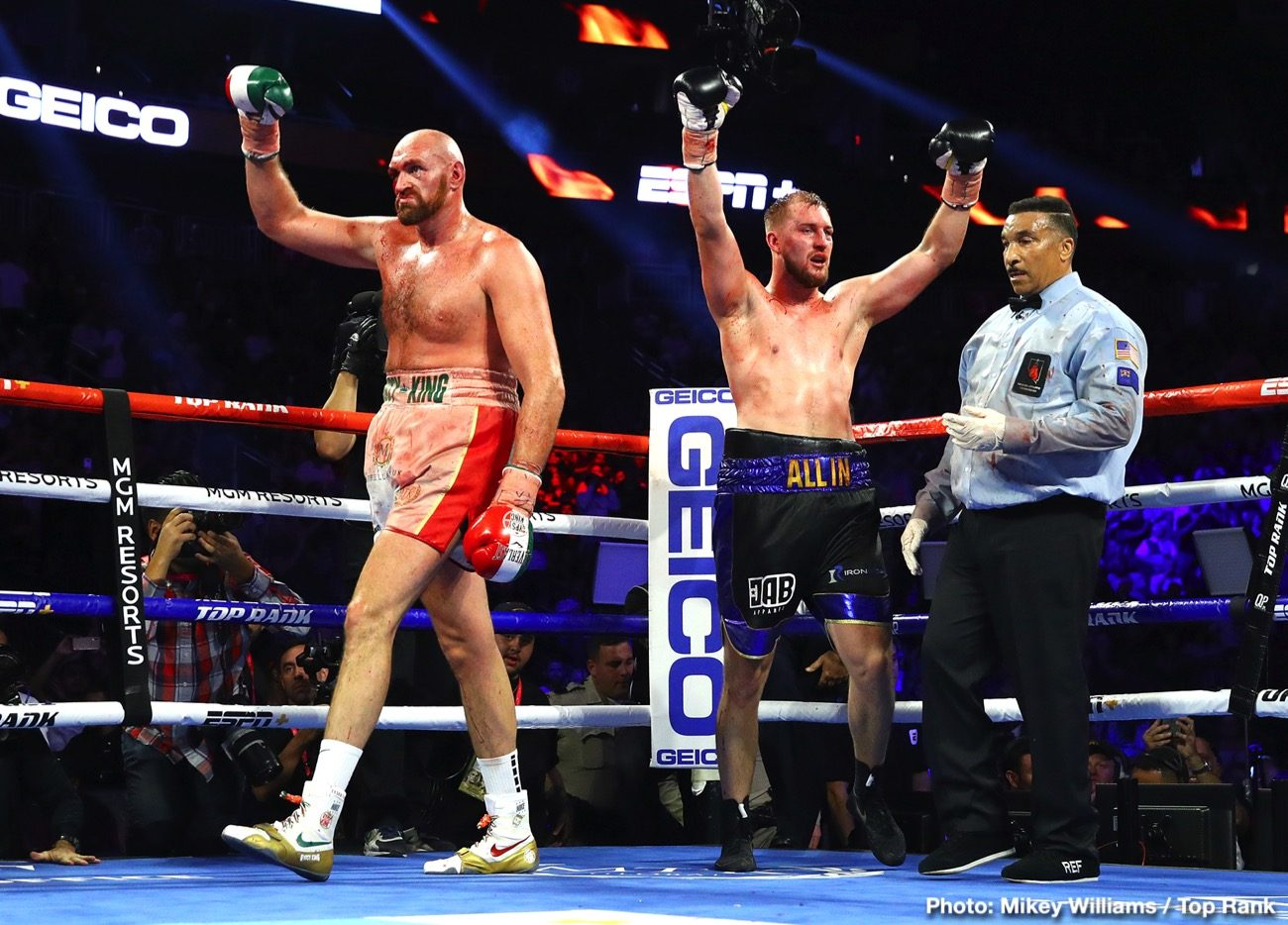 Deontay Wilder Tyson Fury ESPN Fury vs. Wallin Otto Wallin top rank