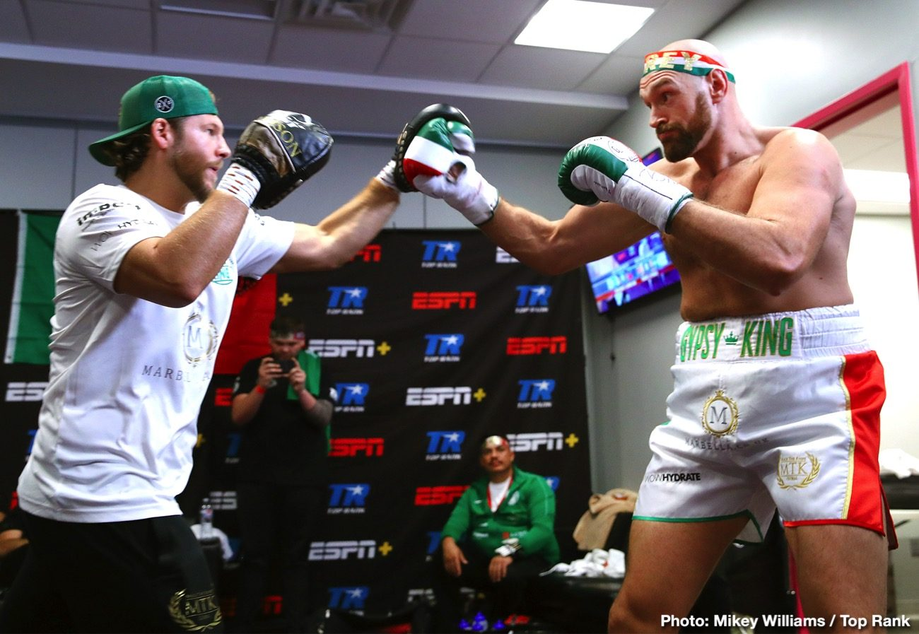 Tyson Fury Bob Arum ESPN Fury vs. Wallin Otto Wallin top rank