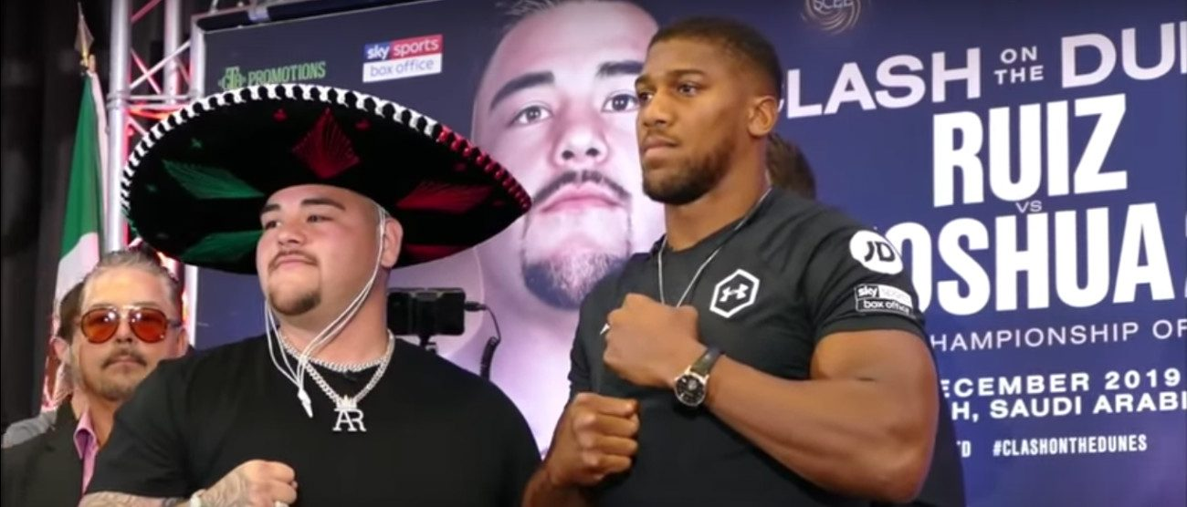 Anthony Joshua Andy Ruiz DAZN Joshua vs Ruiz