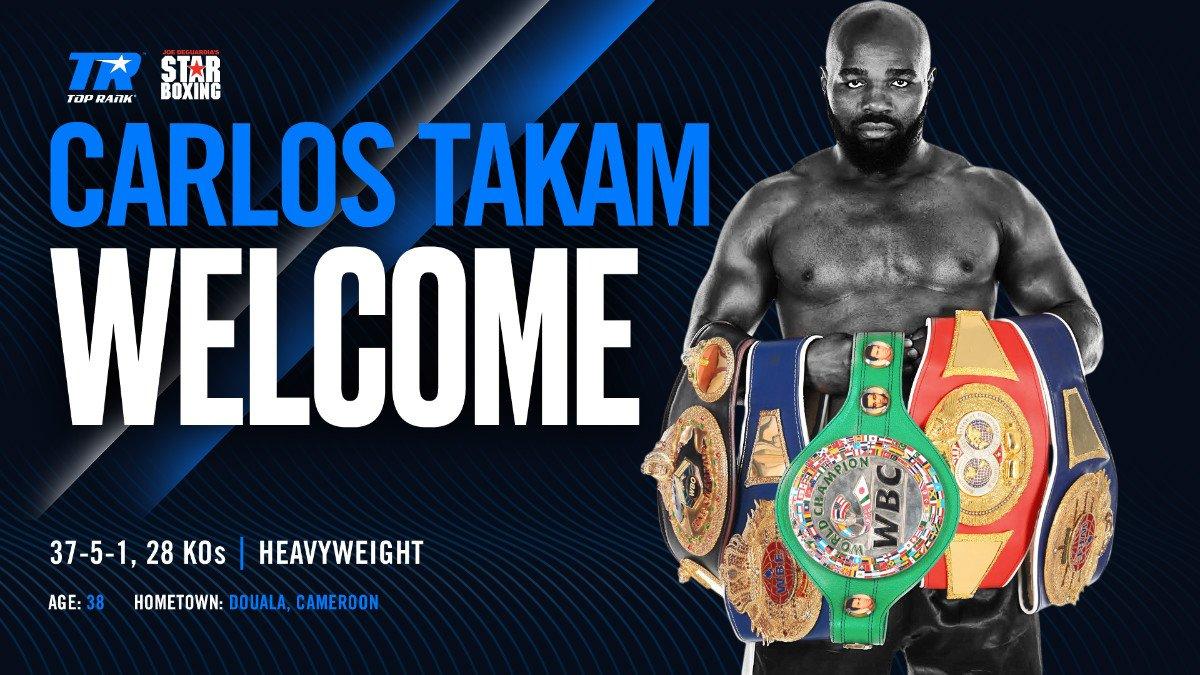 - Latest Carlos Takam Star Boxing Top Rank Boxing