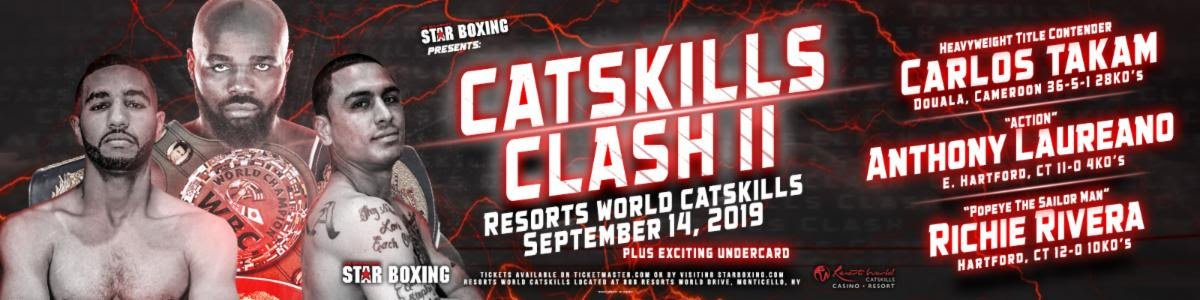 Carlos Takam to fight on September 14 in Monticello, New York