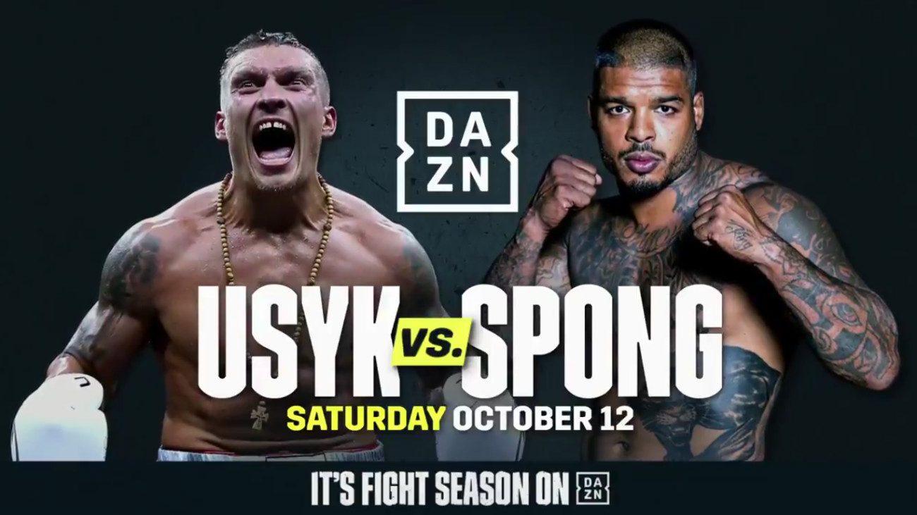 Aleksandr Usyk Bivol vs. Castillo DAZN Tyrone Spong Usyk vs. Spong