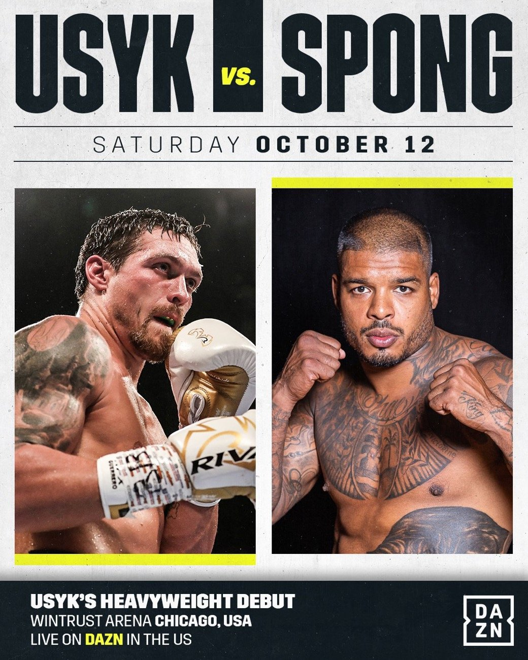 - Latest Aleksandr Usyk Usyk vs. Spong