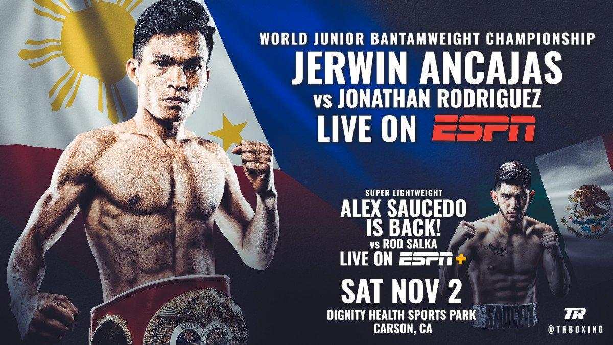 - Latest Alex Saucedo Ancajas vs. Rodriguez ESPN Jerwin Ancajas Jonathan Rodriguez Rod Salka Saucedo vs. Salka Top Rank Boxing