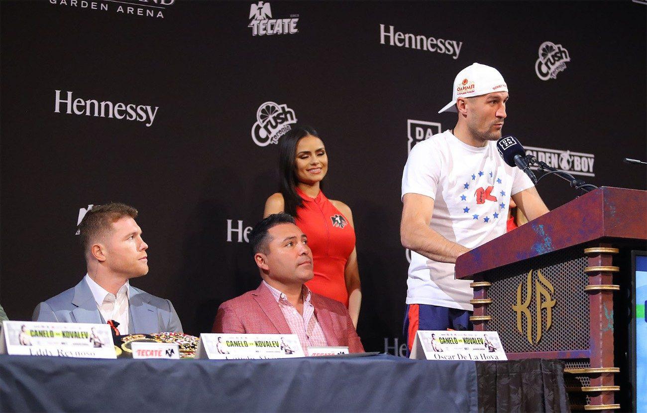 Canelo Alvarez Sergey Kovalev Buddy McGirt Canelo vs. Kovalev