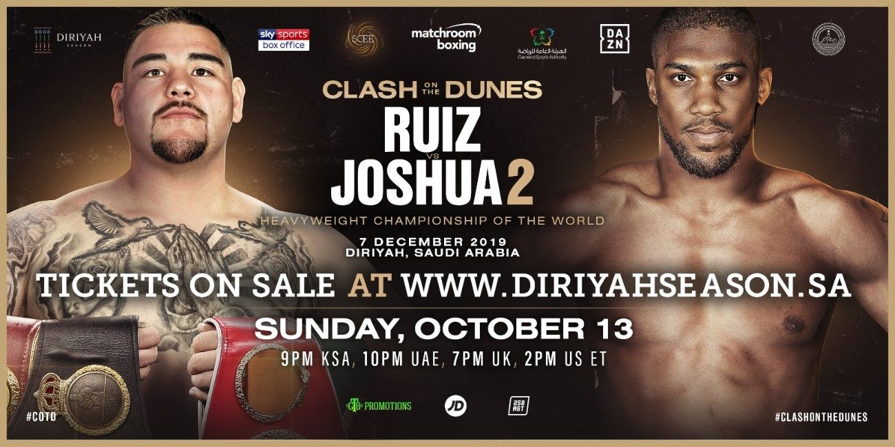 Anthony Joshua Oscar De La Hoya Andy Ruiz DAZN Joshua vs Ruiz Sky Sports Box Office