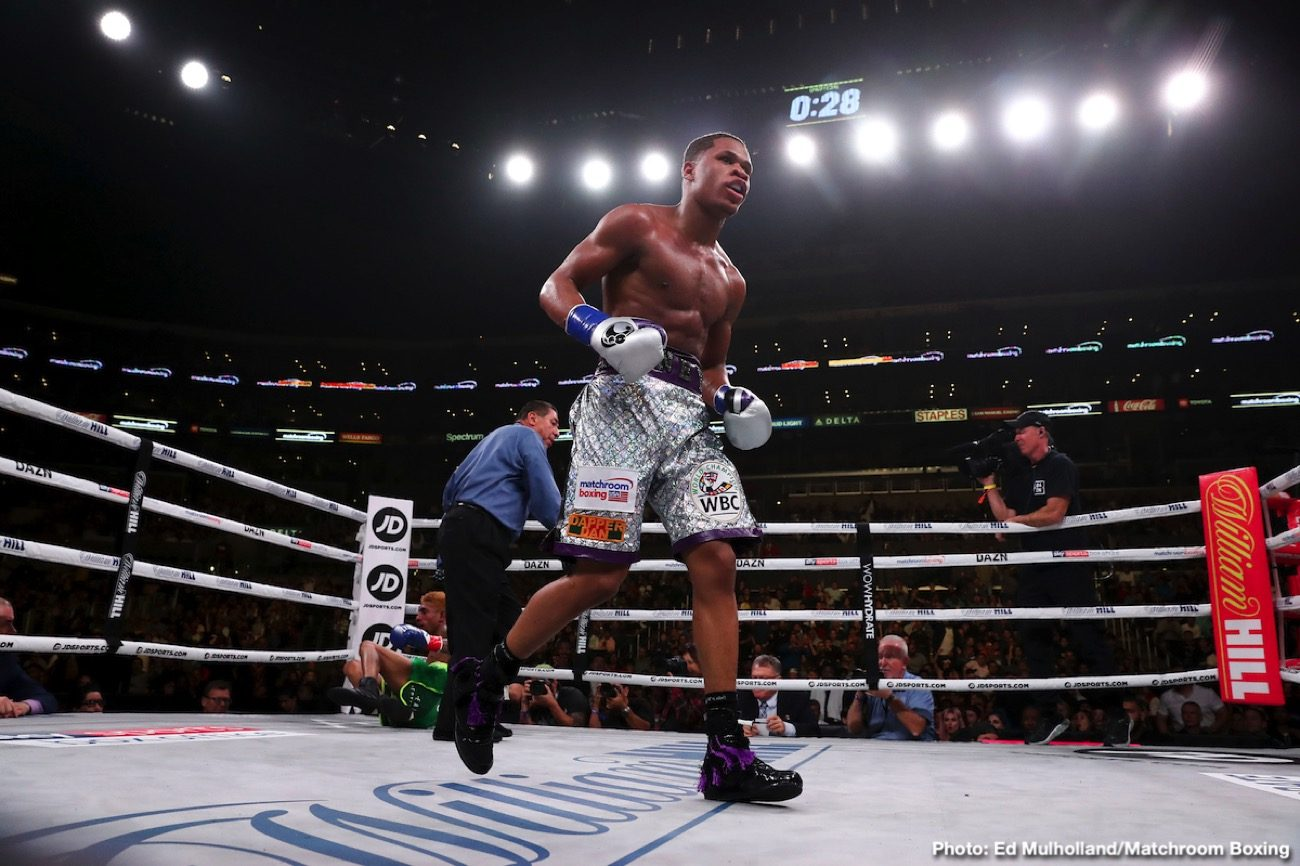 Latest Eddie Hearn Haney vs. Fortuna Javier Fortuna