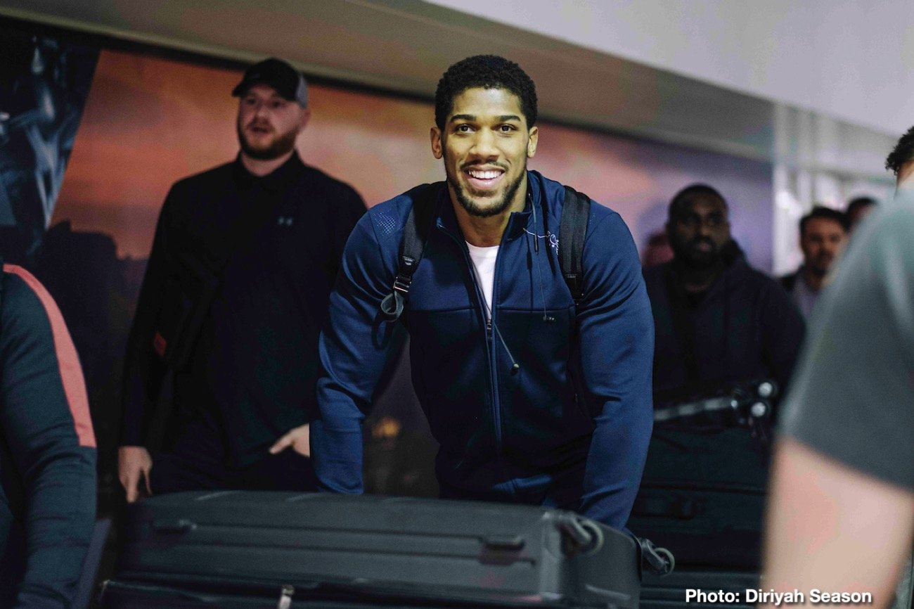 "Andy Ruiz, Anthony Joshua - Anthony Joshua OBE has promised the world an ""iconic evening of boxing"" as he lands in Saudi Arabia ahead of his rematch with World Champion Andy Ruiz Jr in the Clash On The Dunes."