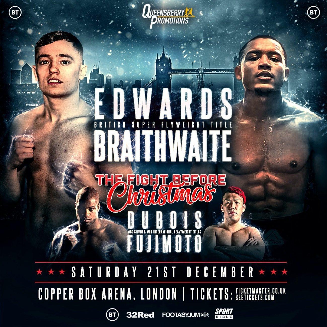 - Latest Dubois vs. Fujimoto Sunny Edwards