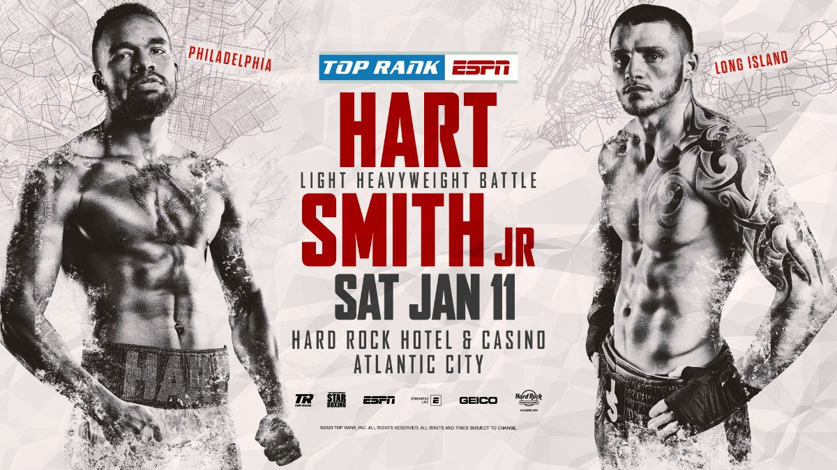 - Latest ESPN Hart vs. Smith Jesse Hart Joe Smith Top Rank Boxing