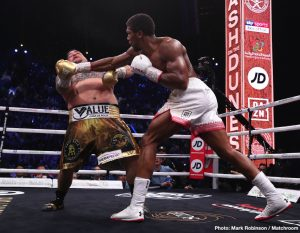 Joshua now concerned with splits for Wilder & Fury fights