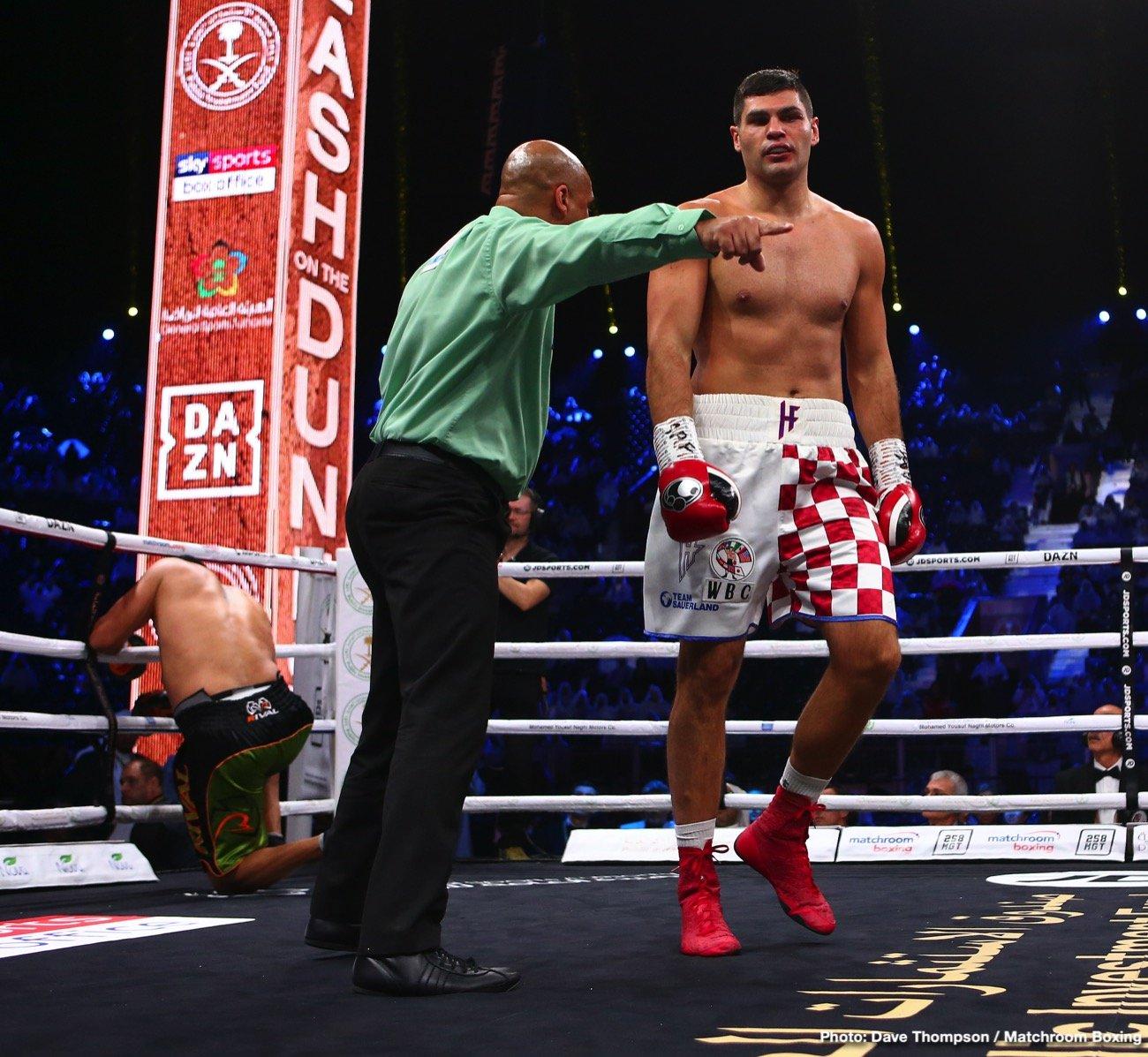 - Latest Eric Molina Filip Hrgovic Hrgovic vs. Molina