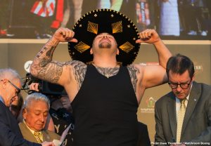 Andy Ruiz weighing 257-lbs for Chris Arreola fight