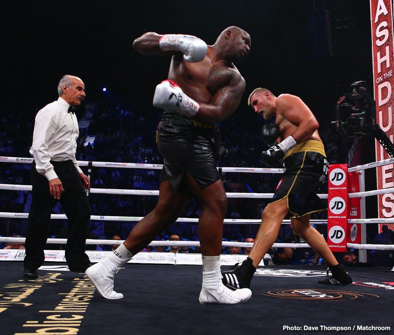 Anthony Joshua David Haye Dillian Whyte Tyson Fury