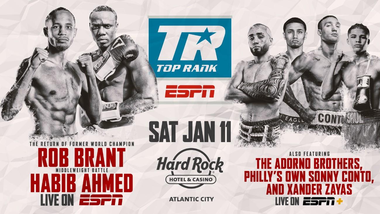 - Latest Brant vs. Ahmed Habib Ahmed Hart vs. Smith Jesse Hart Joe Smith Rob Brant Top Rank Boxing