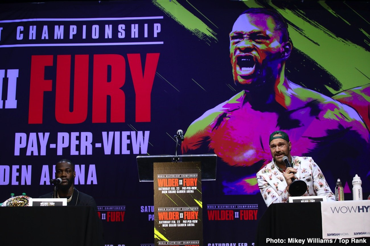 Deontay Wilder Tyson Fury Eddie Hearn Wilder vs. Fury