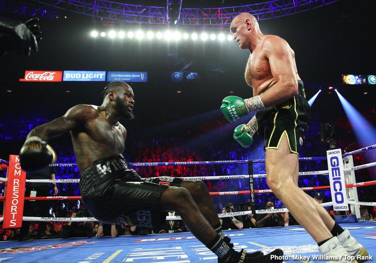 Deontay Wilder Dillian Whyte Tyson Fury