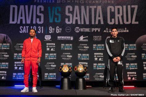 - Latest Gervonta Davis Leo Santa Cruz