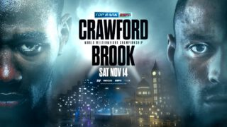 Terence Crawford defends against Kell Brook on Nov.14 in Las Vegas, NV