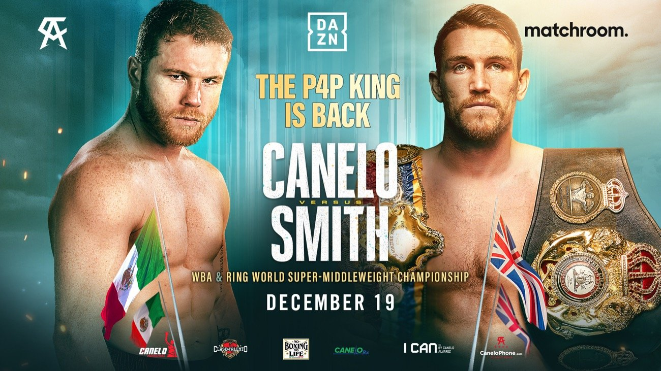 Canelo Alvarez vs. Callum Smith tickets go on sale today for the Dec.19th  fight ⋆ Boxing News 24