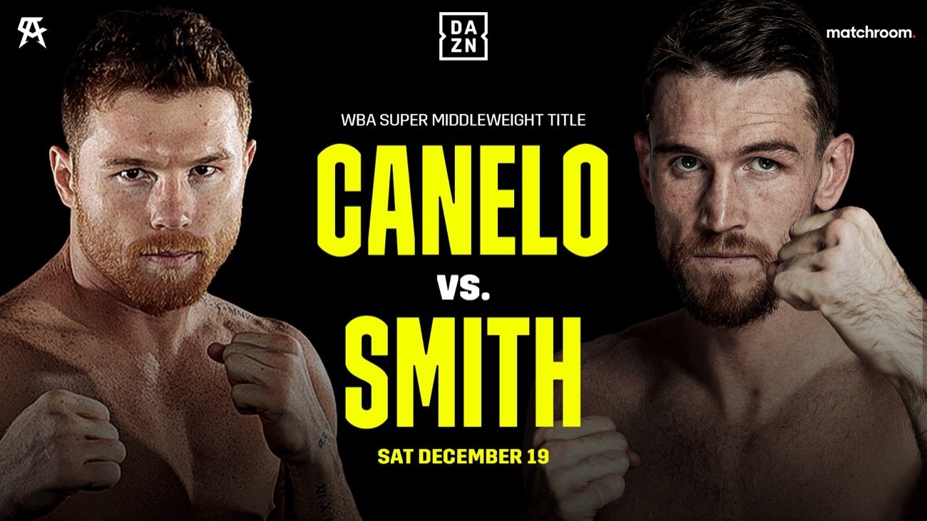 Hearn reveals Canelo vs. Smith without a rehydration clause for Dec.19th