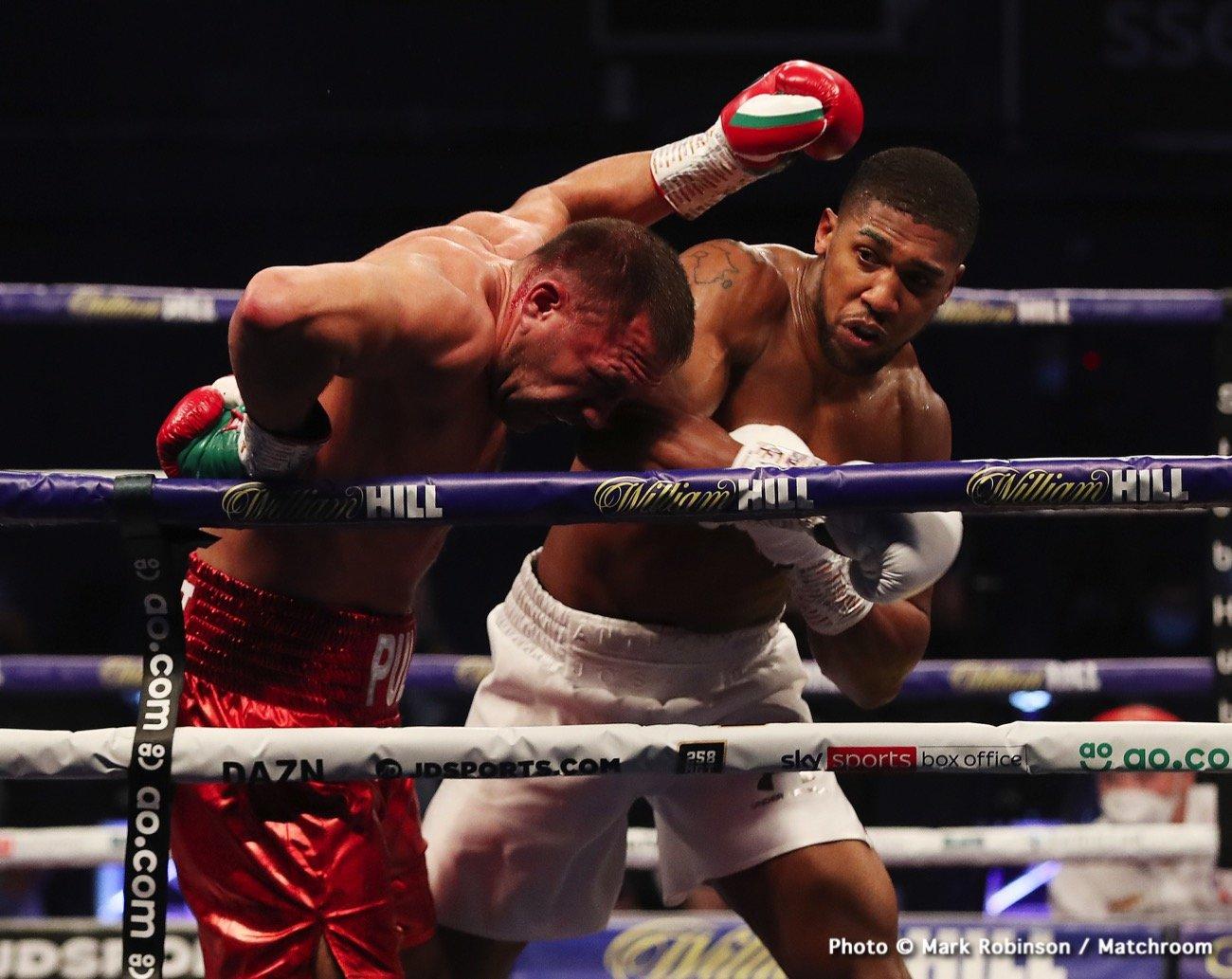 Anthony Joshua Eddie Hearn Tyson Fury