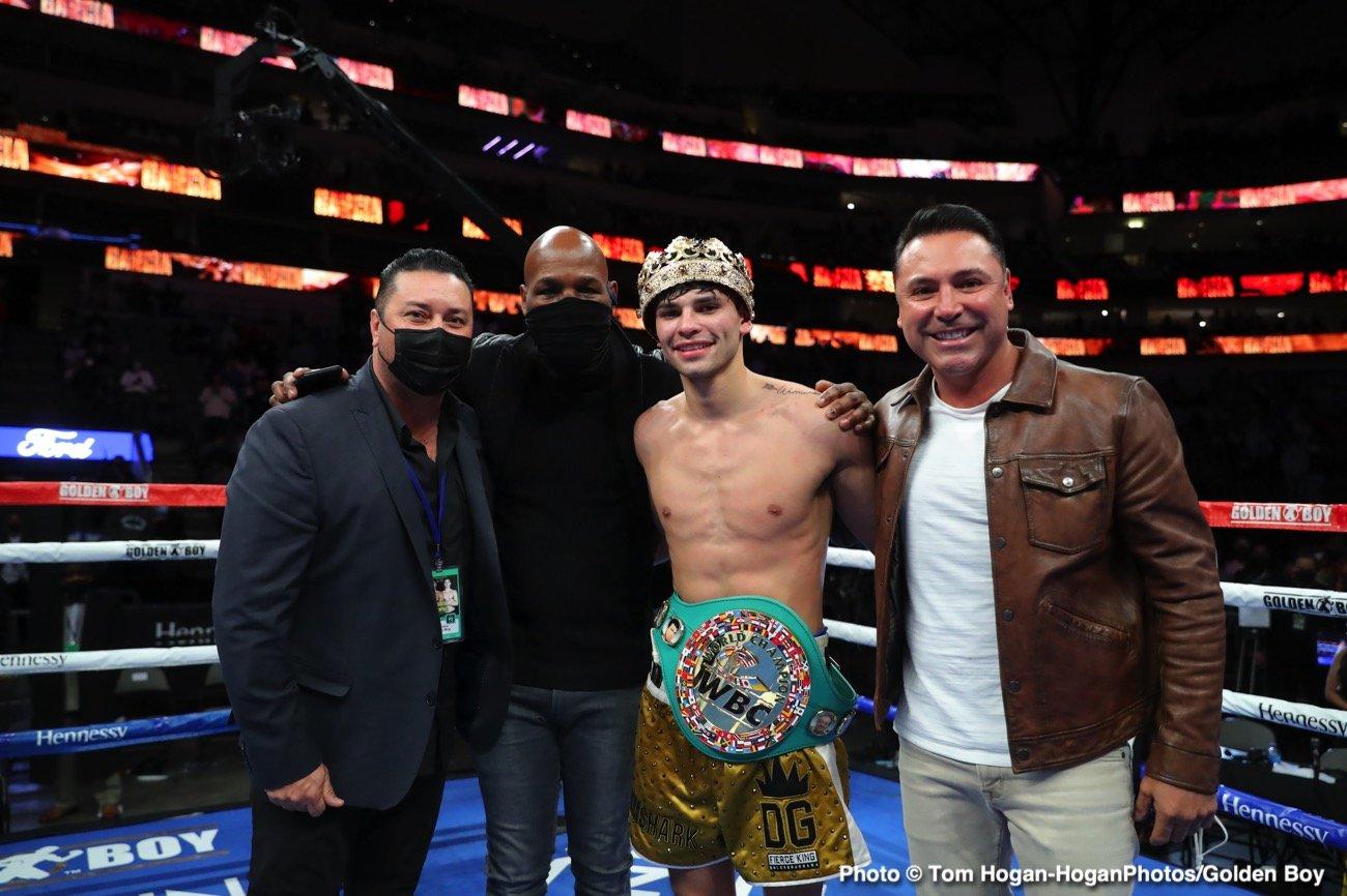 Manny Pacquiao Oscar De La Hoya Ryan Garcia