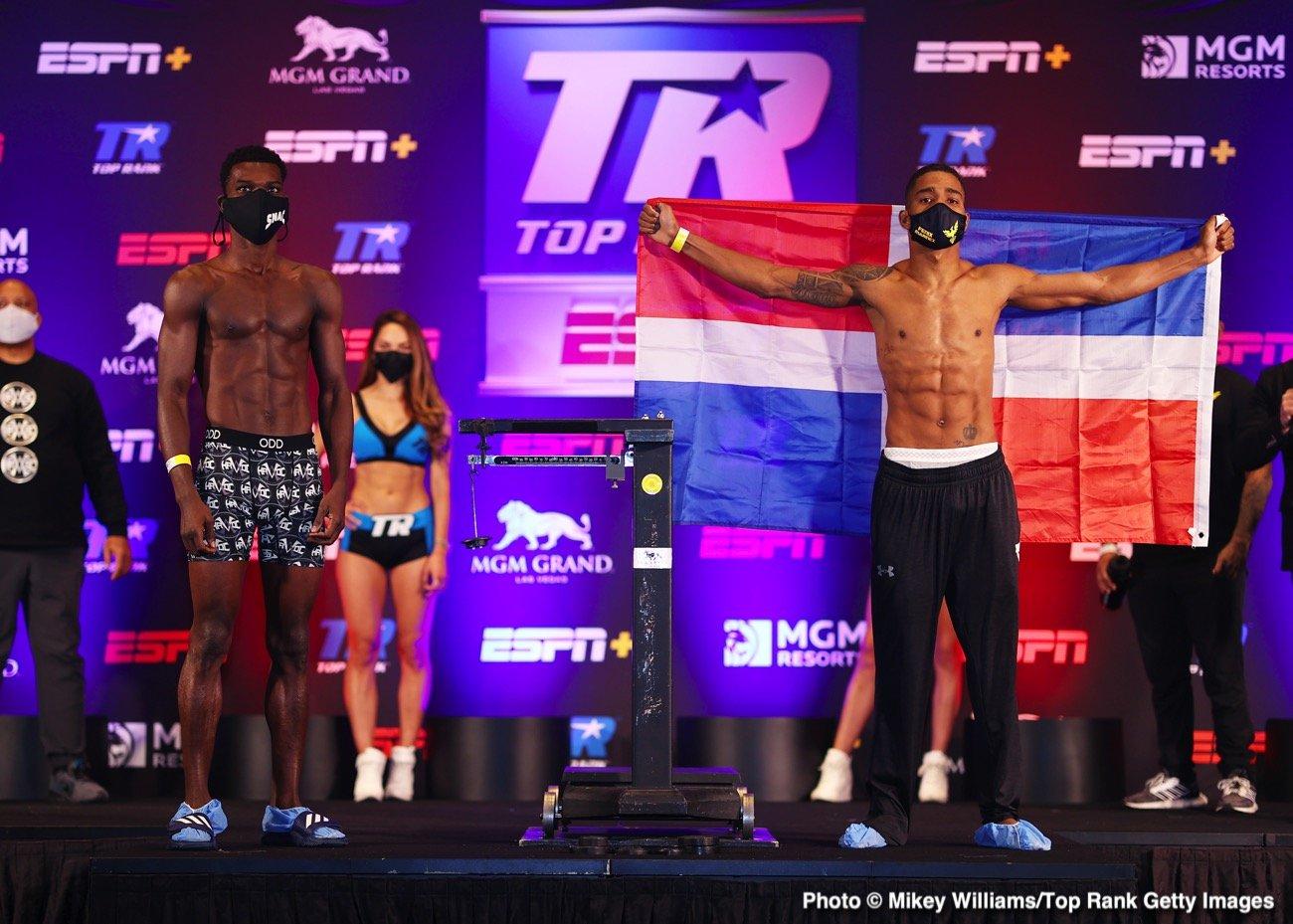 boxing Commey Marinez pose.