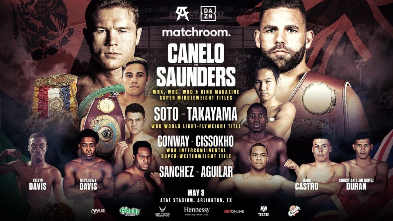 Canelo Saunders Undercard Soto Defends Title Against Takayama On May 8 Boxing News 24