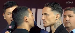 Teofimo Lopez loses his cool with George Kambosos Jr at kickoff press conference