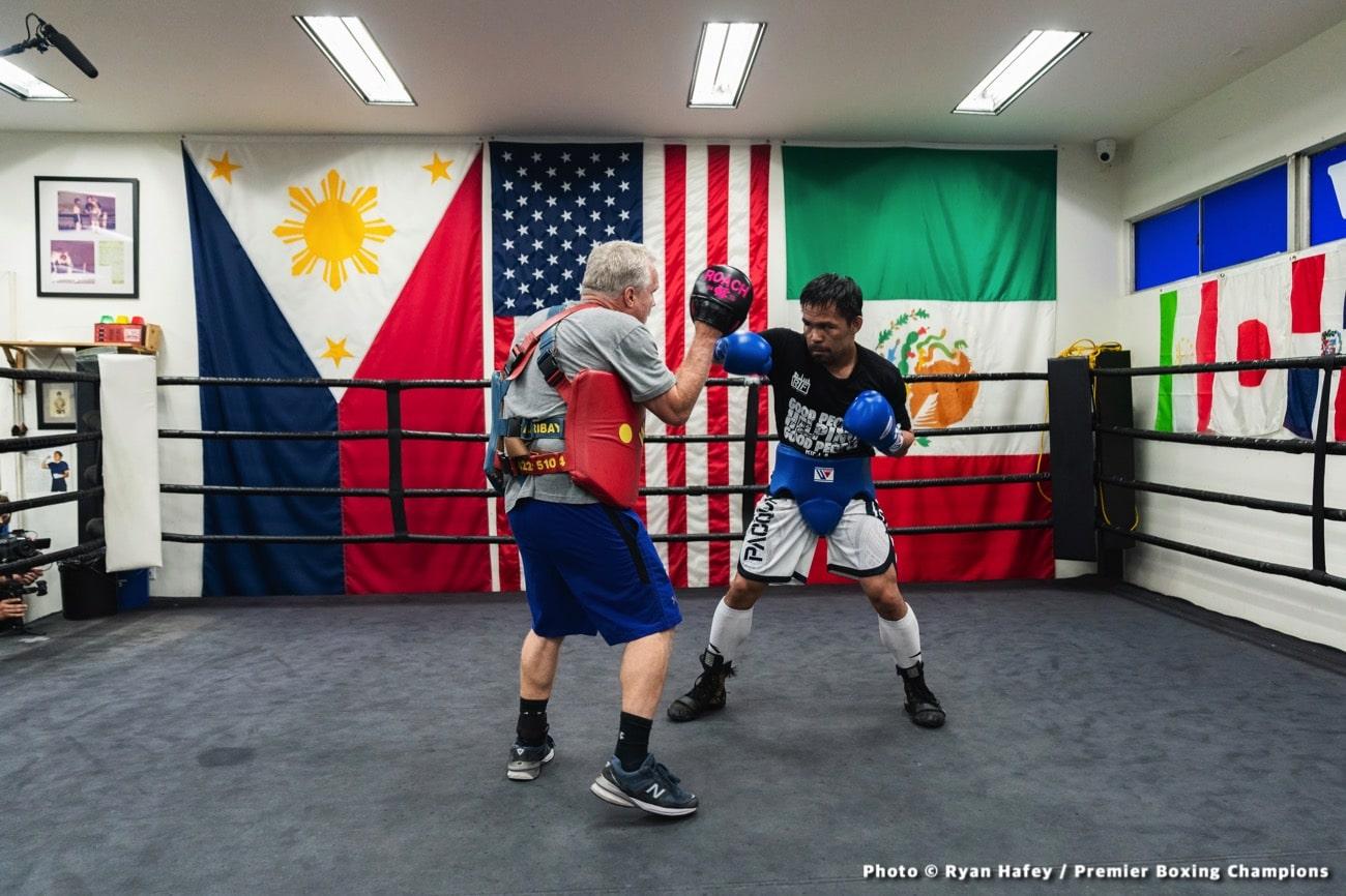 Errol Spence Jr Freddie Roach Manny Pacquiao