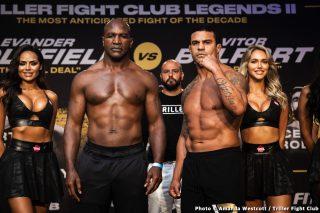 Evander Holyfield 225.4 vs. Vitor Belfort 206.2 – weigh-in results
