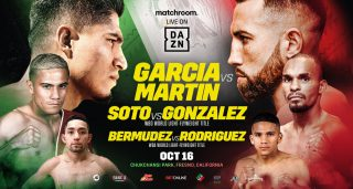 Mikey Garcia vs. Sandor Martin this Saturday, Oct.16th live on Dazn