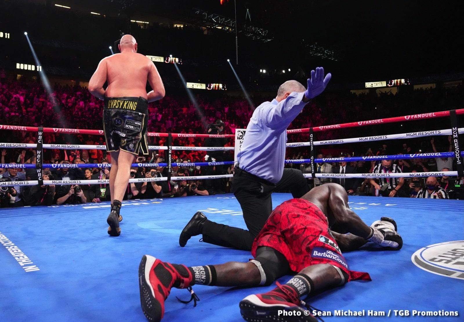 Deontay Wilder Mike Tyson Tyson Fury