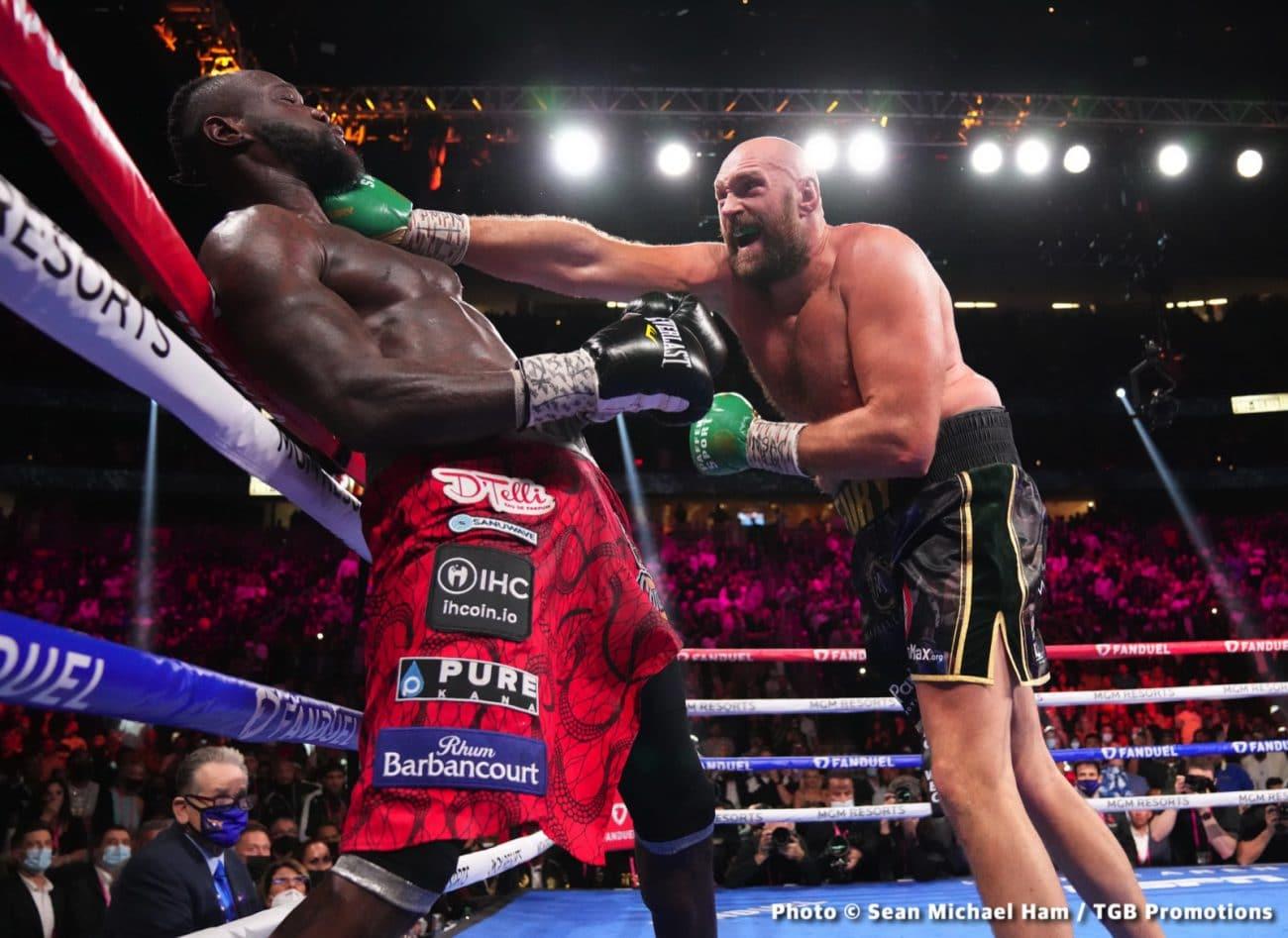 Deontay Wilder Latest Tyson Fury