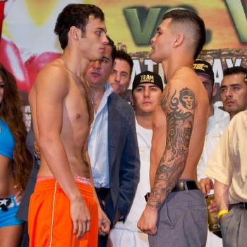 BOXING: Julio Cesar Chavez Jr. vs Bryan Vera Weigh-In