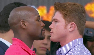saul alvarez floyd mayweather jr  photo
