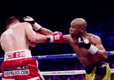 saul alvarez floyd mayweather jr boxing  photo