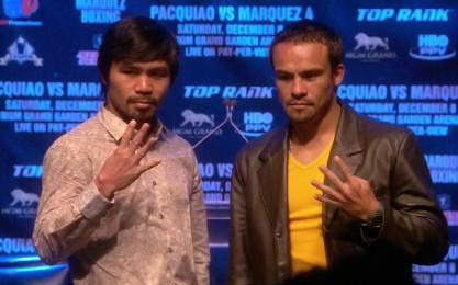 Juan Manuel Marquez Manny Pacquiao Bob Arum Pacquiao vs. Marquez Pacquiao-Marquez
